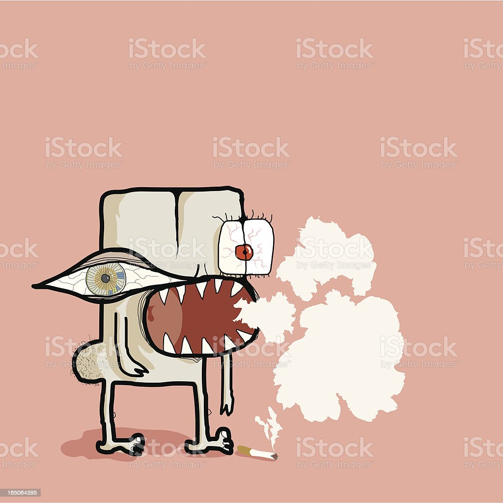 Cigarette's make you cough! royalty-free stock vector art