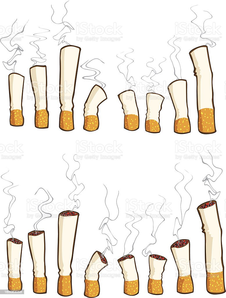 cigarettes royalty-free stock vector art