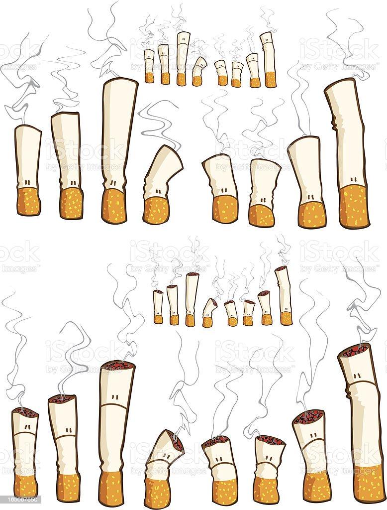 cigarettes royalty-free stock vector art