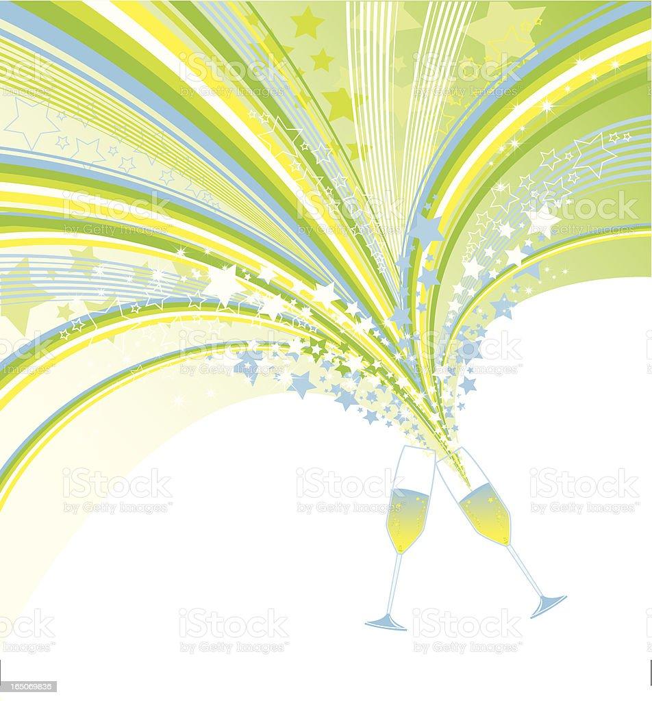 CinCin Party Toast royalty-free stock vector art
