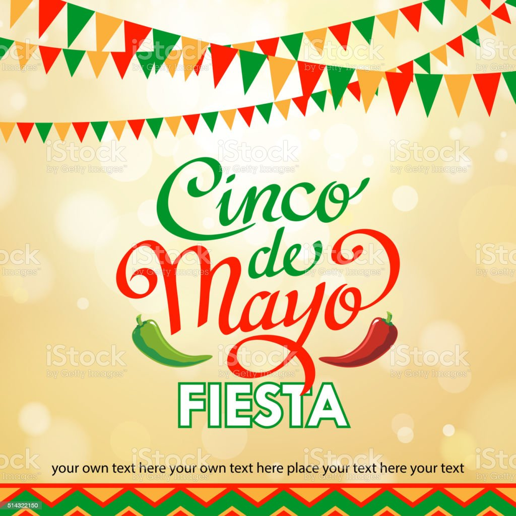Cinco De Mayo Background vector art illustration