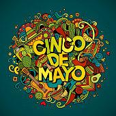 Cinco de Mayo cartoon illustration