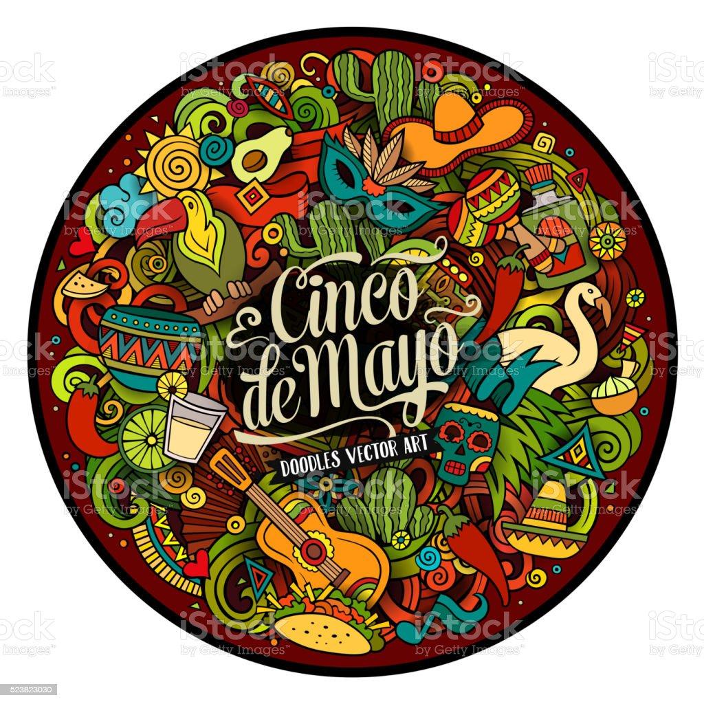 Cinco de Mayo. Cartoon illustration vector art illustration