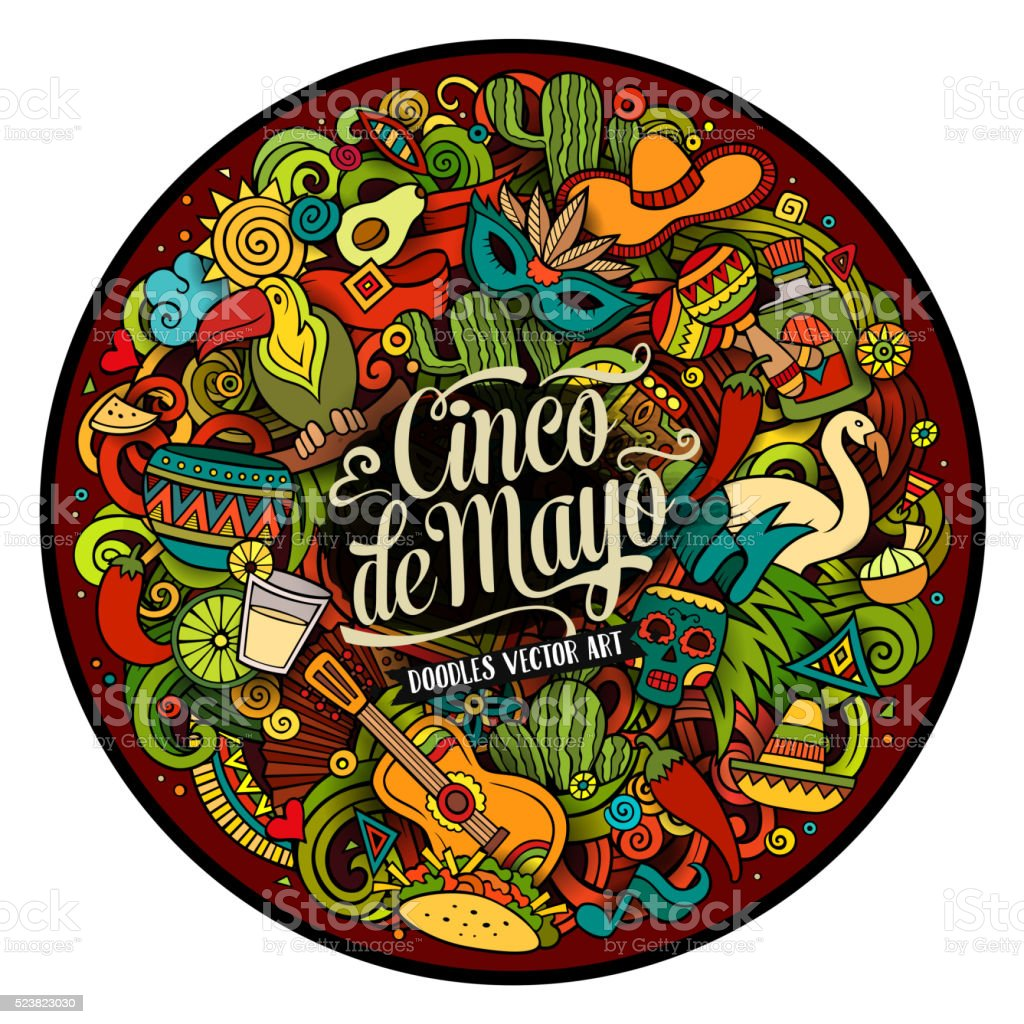 Cinco de Mayo. Cartoon illustration vector art illustration