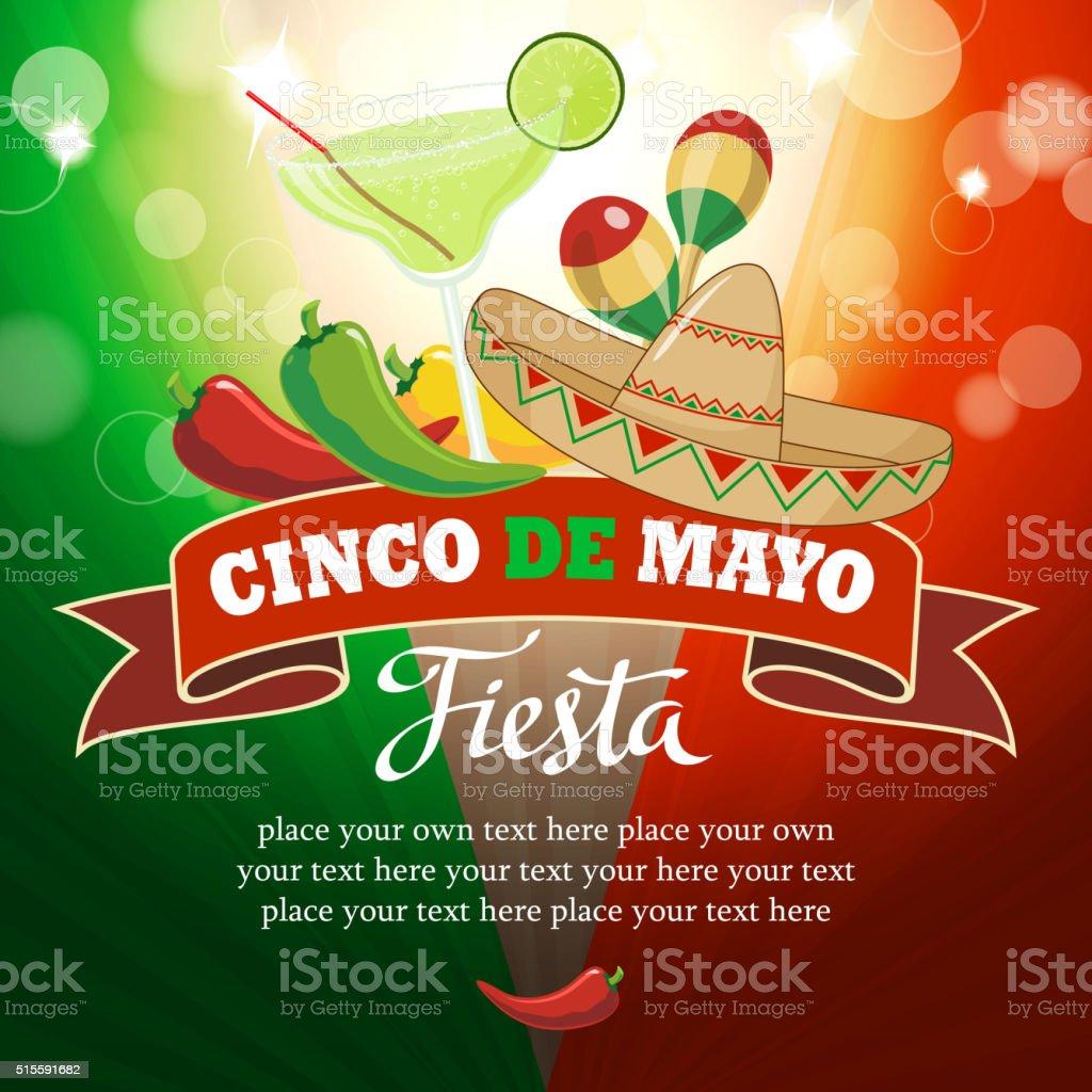 Cinco De Mayo Celebration vector art illustration