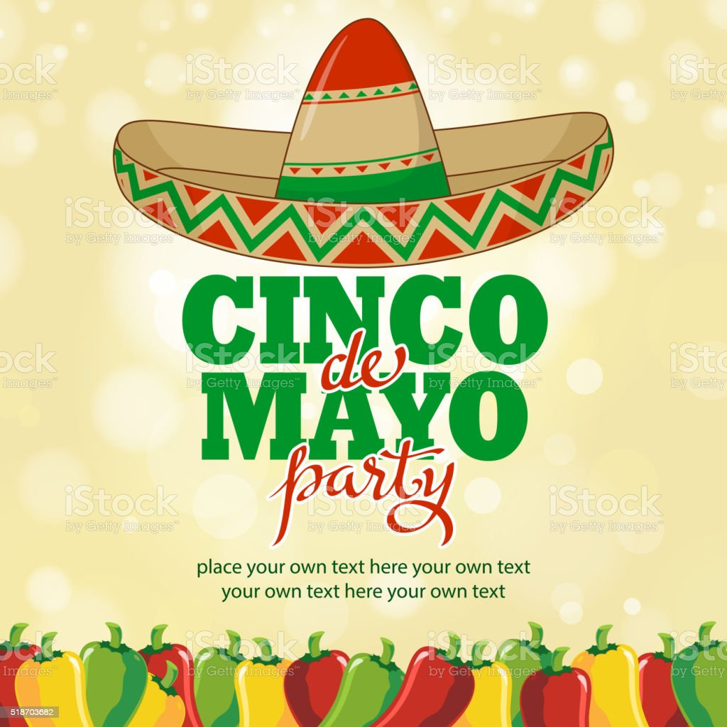 Cinco De Mayo Hottest Party vector art illustration