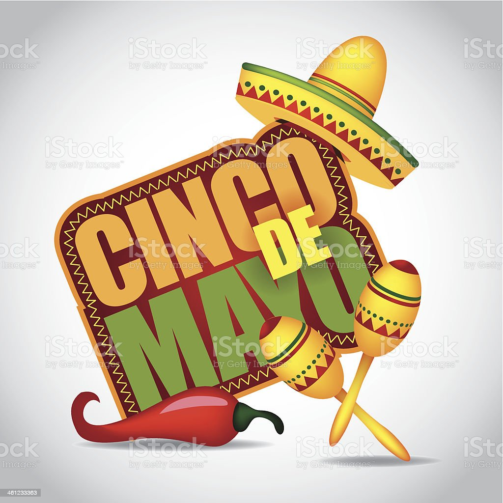 Cinco De Mayo icon. vector art illustration