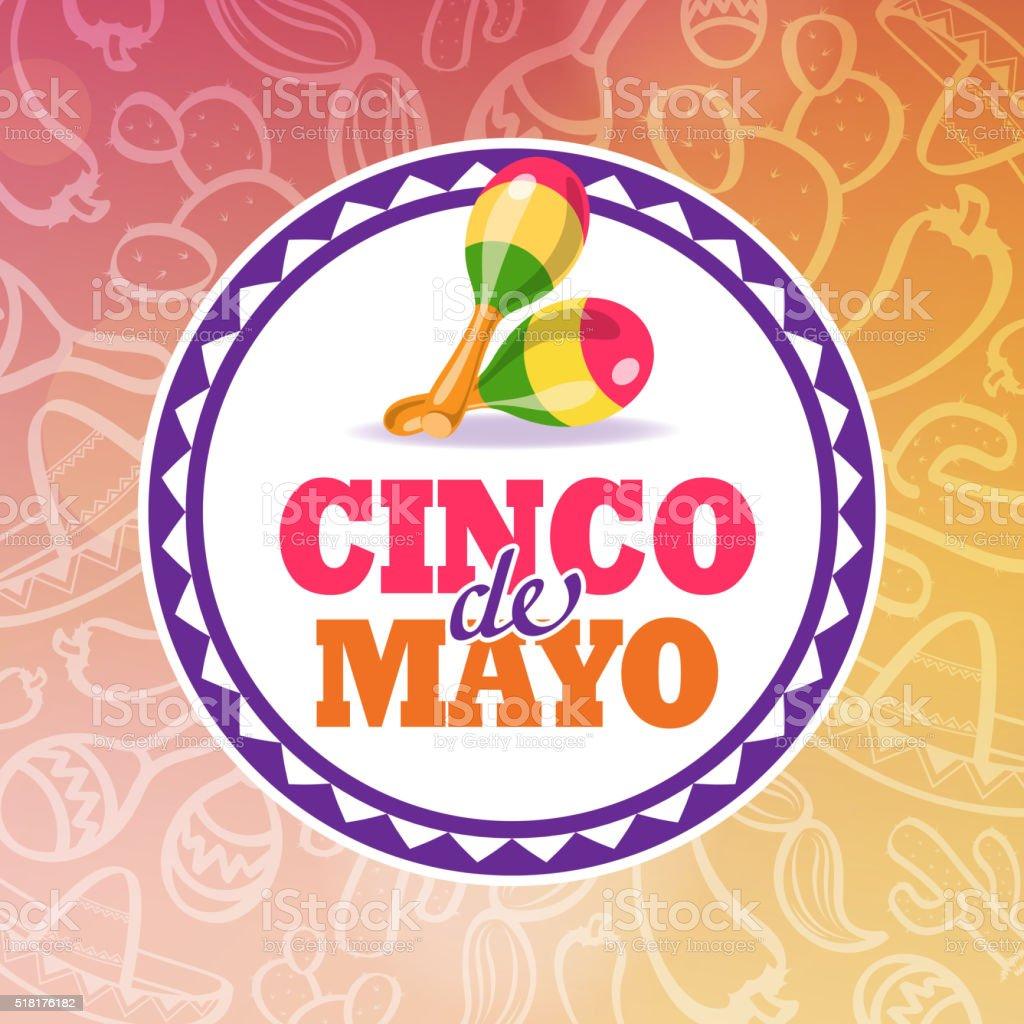 Cinco De Mayo Maracas Symbol vector art illustration