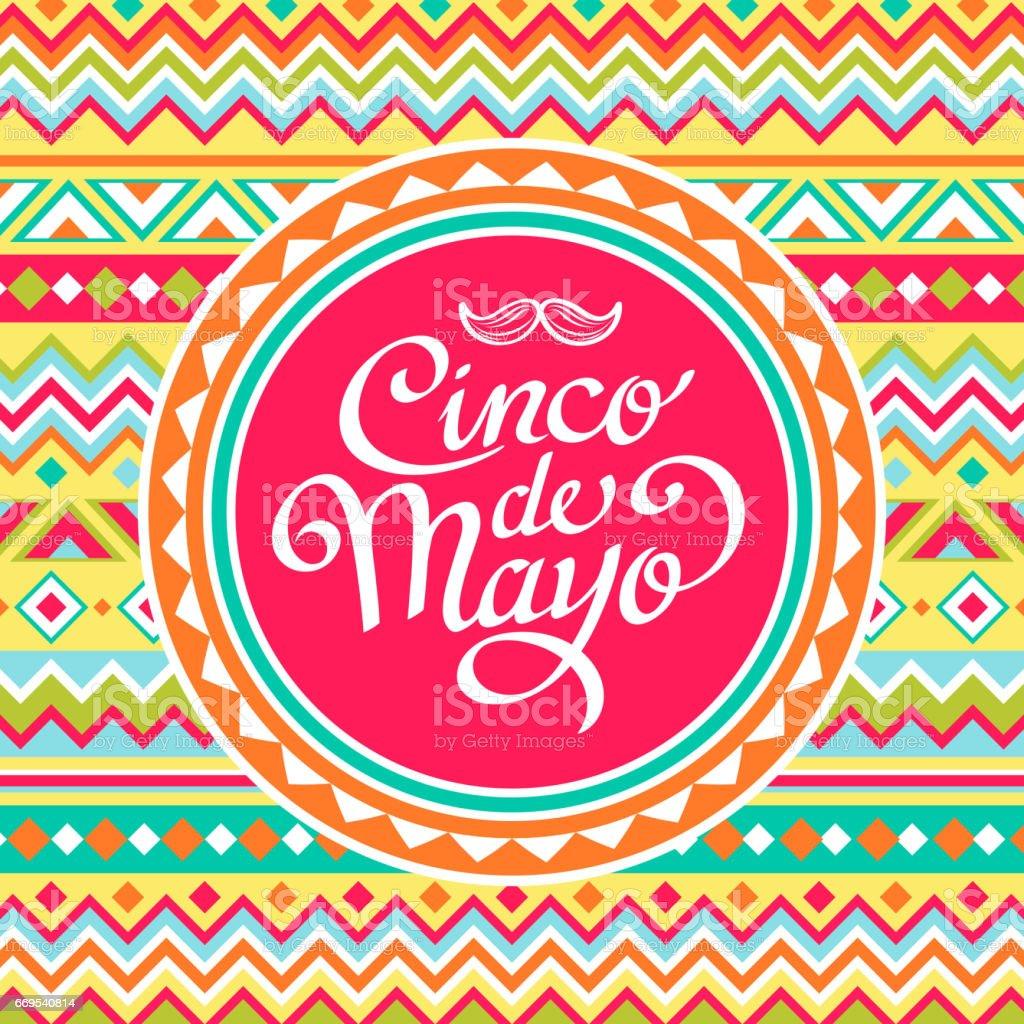 Cinco De Mayo Mexican Pattern vector art illustration