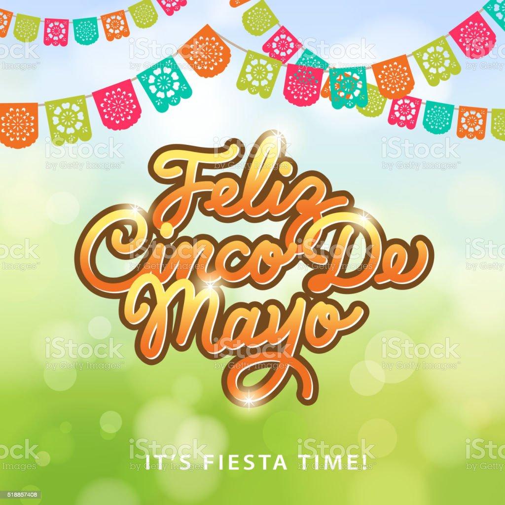 Cinco De Mayo Papel Picado vector art illustration