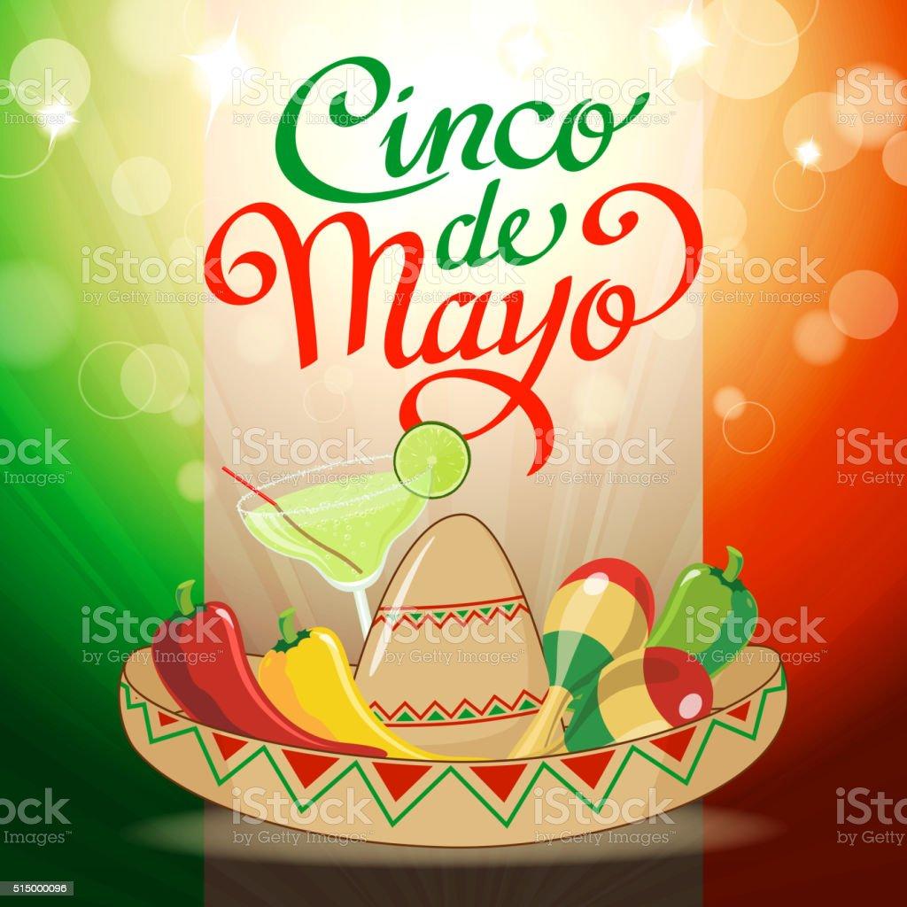 Cinco De Mayo Party vector art illustration