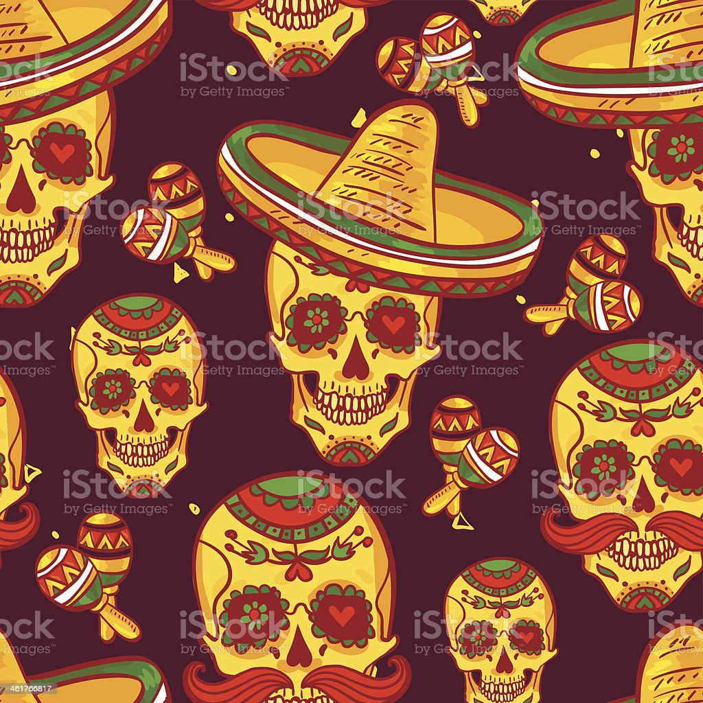 Cinco de Mayo Seamless Pattern vector art illustration