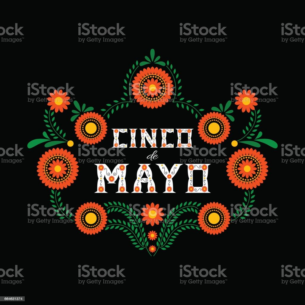 Cinco de Mayo typography banner vector vector art illustration