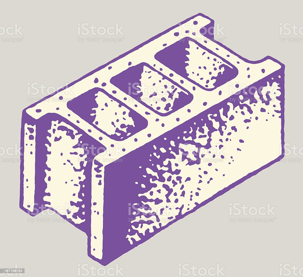 Cinder Block vector art illustration