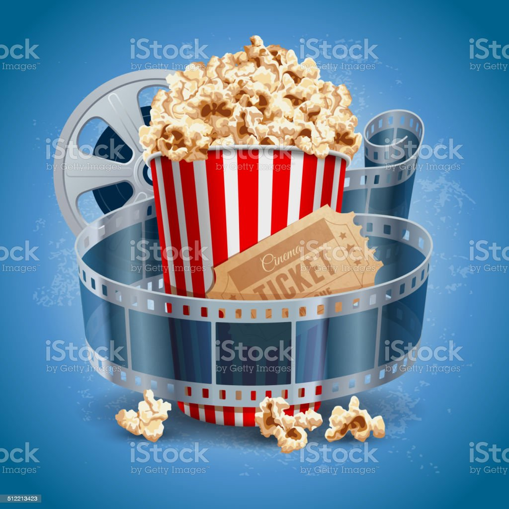 Cinema background vector art illustration