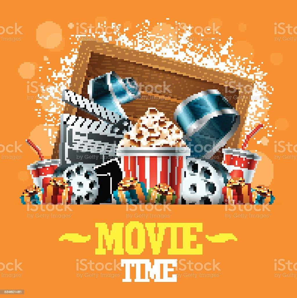 Cinema Background vector art illustration