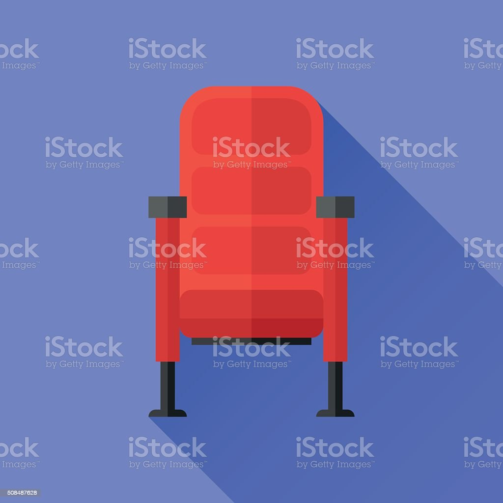 Cinema chair flat icon vector art illustration