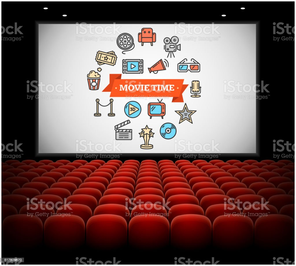 Cinema Concept. Vector vector art illustration