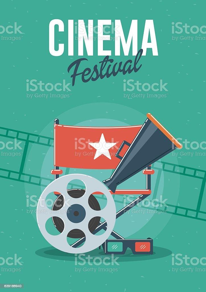 Cinema Festival vector art illustration