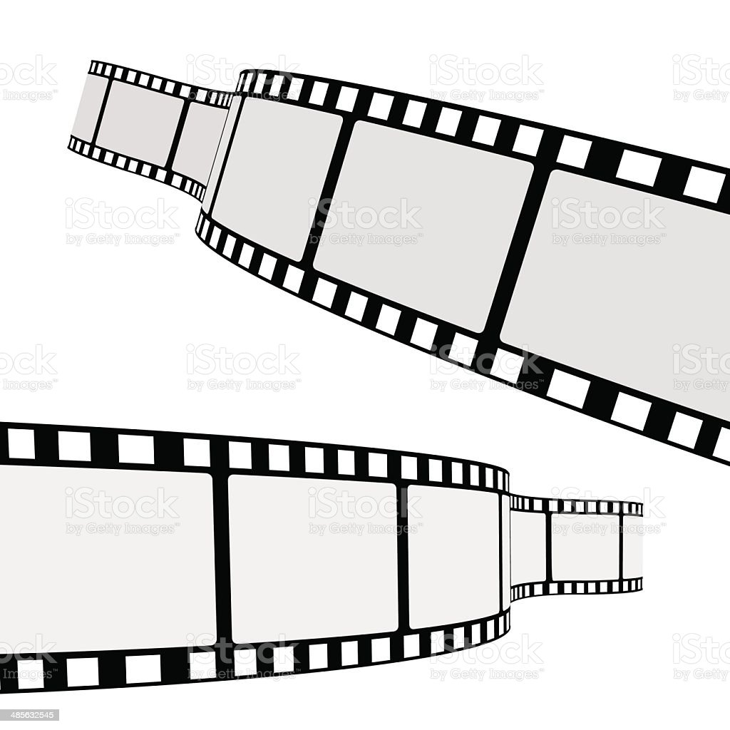 Cinema Film Strip vector art illustration