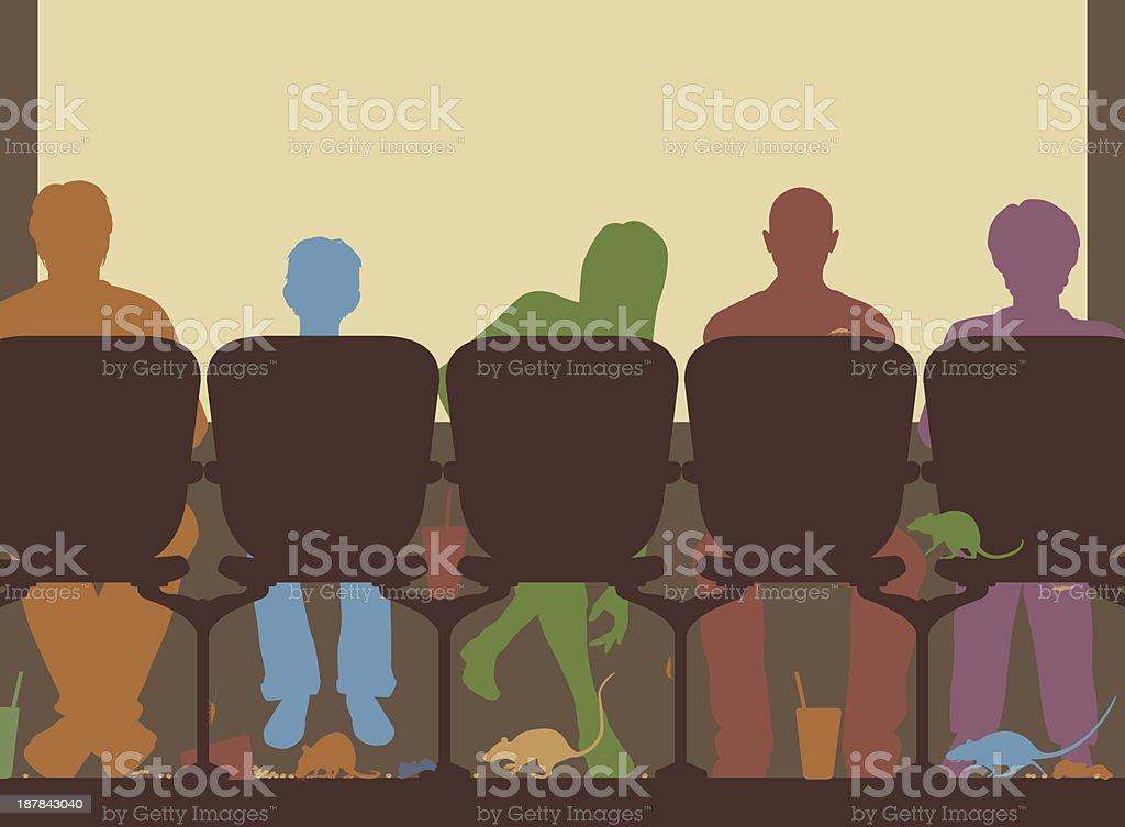 Cinema floor royalty-free stock vector art