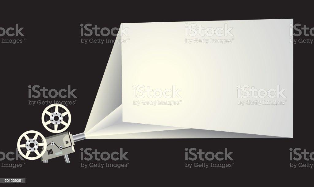 Cinema frame vector art illustration