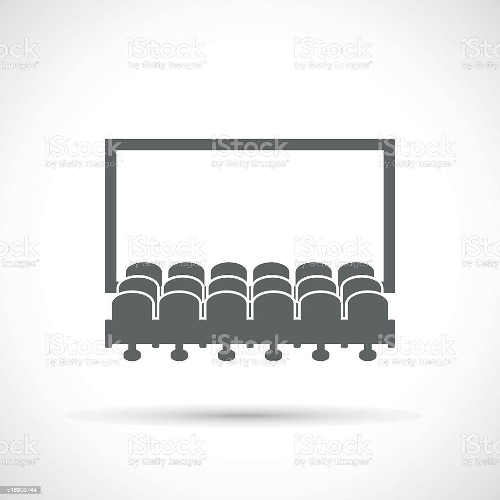 Cinema hall icon vector art illustration