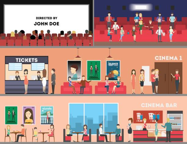 Movie Theater Clip Art, Vector Images & Illustrations - iStock