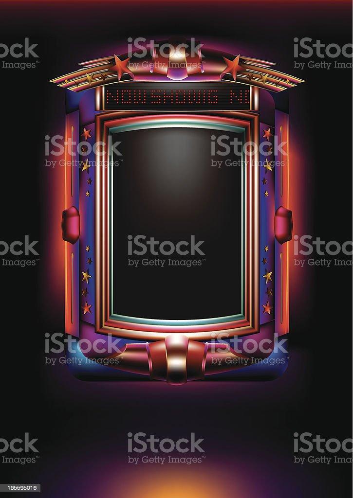 Cinema Light Box vector art illustration