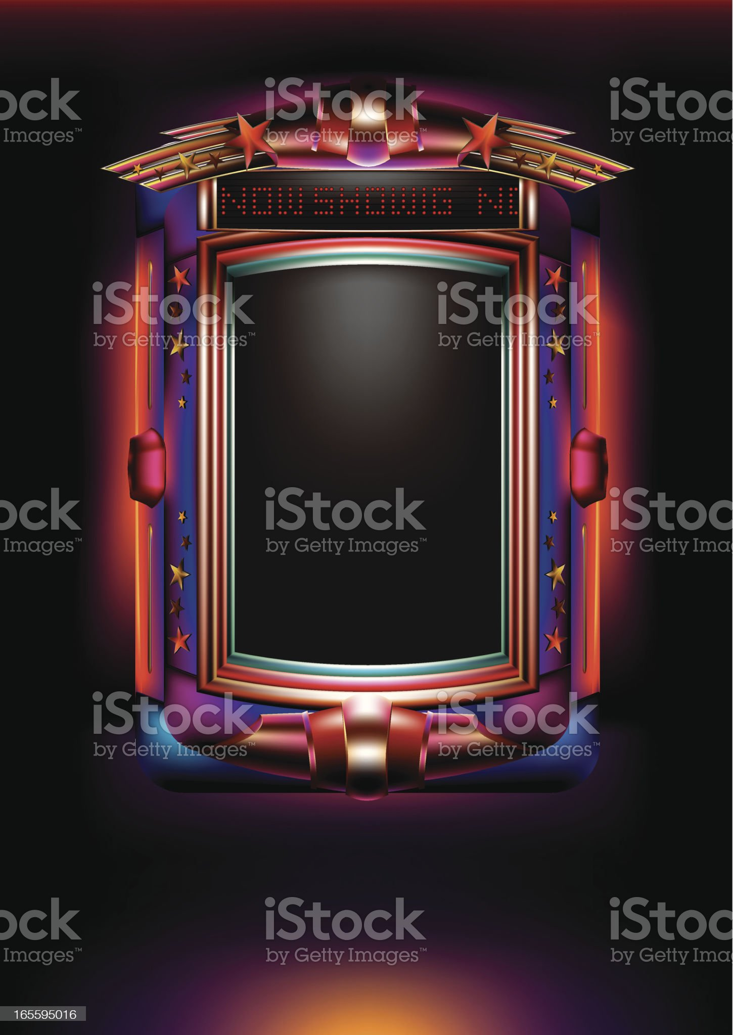 Cinema Light Box royalty-free stock vector art