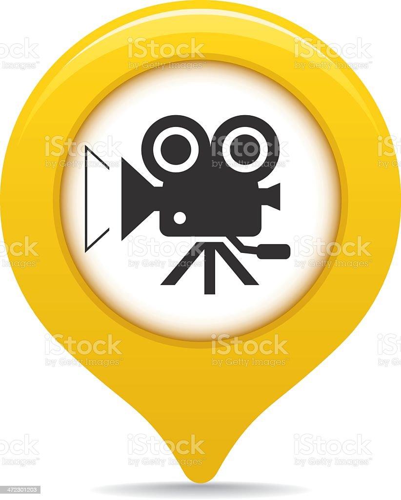 Cinema map pointer royalty-free stock vector art