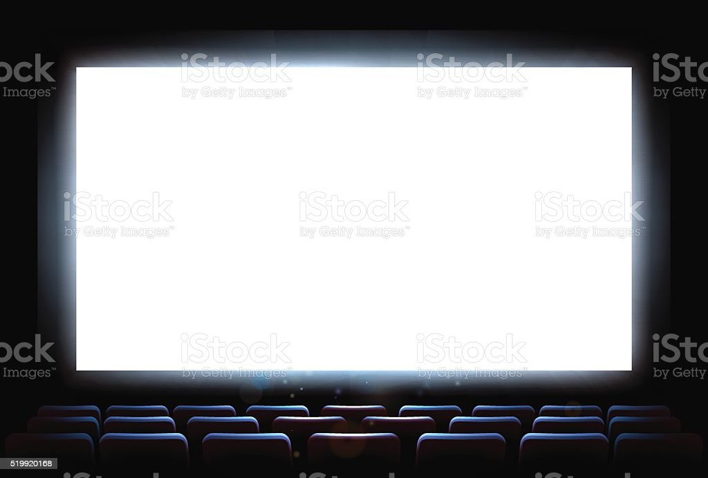 Cinema Movie Theatre Screen vector art illustration
