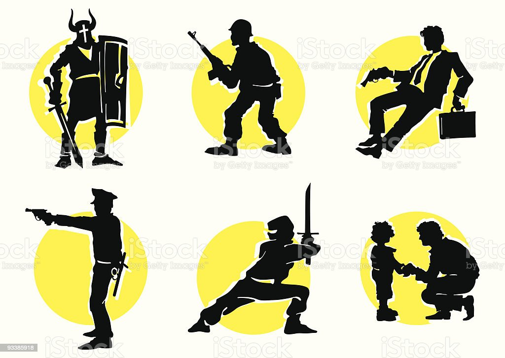 Cinema Silhouettes Icons_13 royalty-free stock vector art