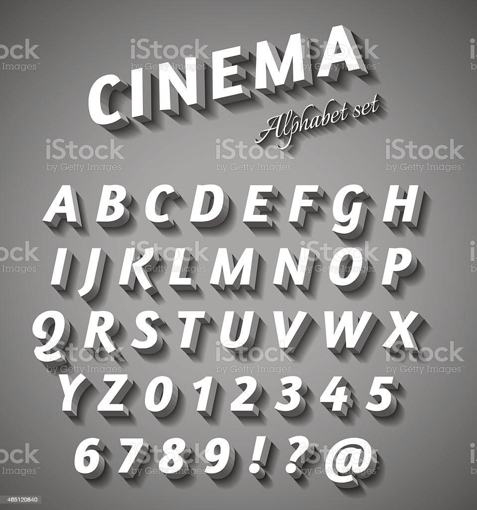 Cinema style characters set vector art illustration
