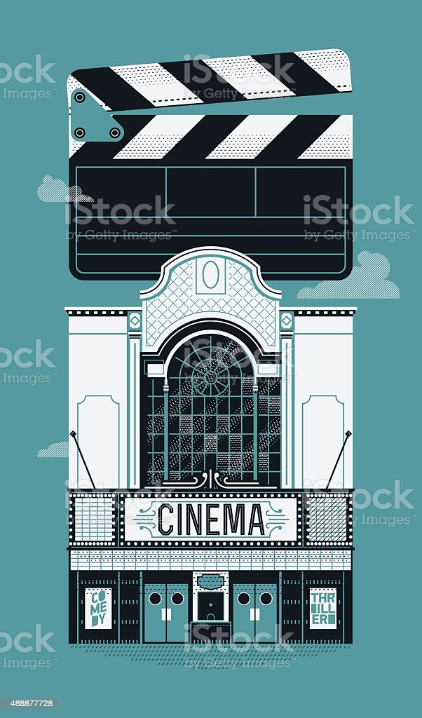 Cinema theater poster template vector art illustration