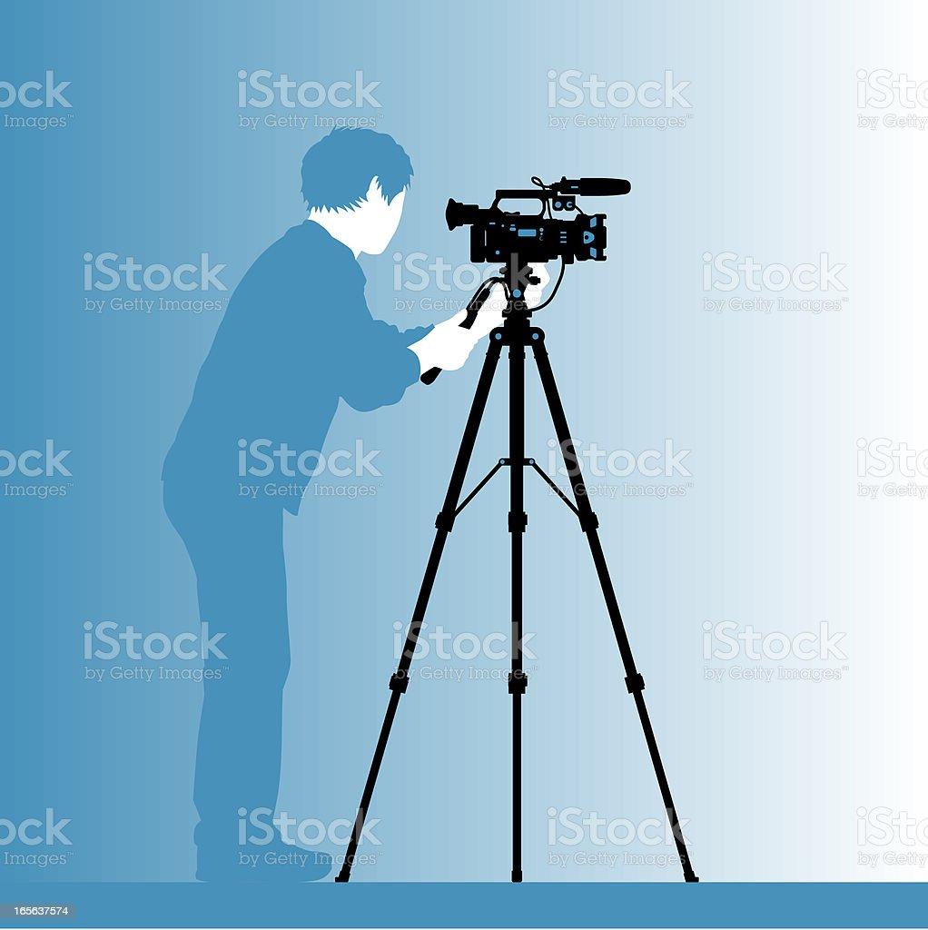 cinematographer silhouette vector art illustration