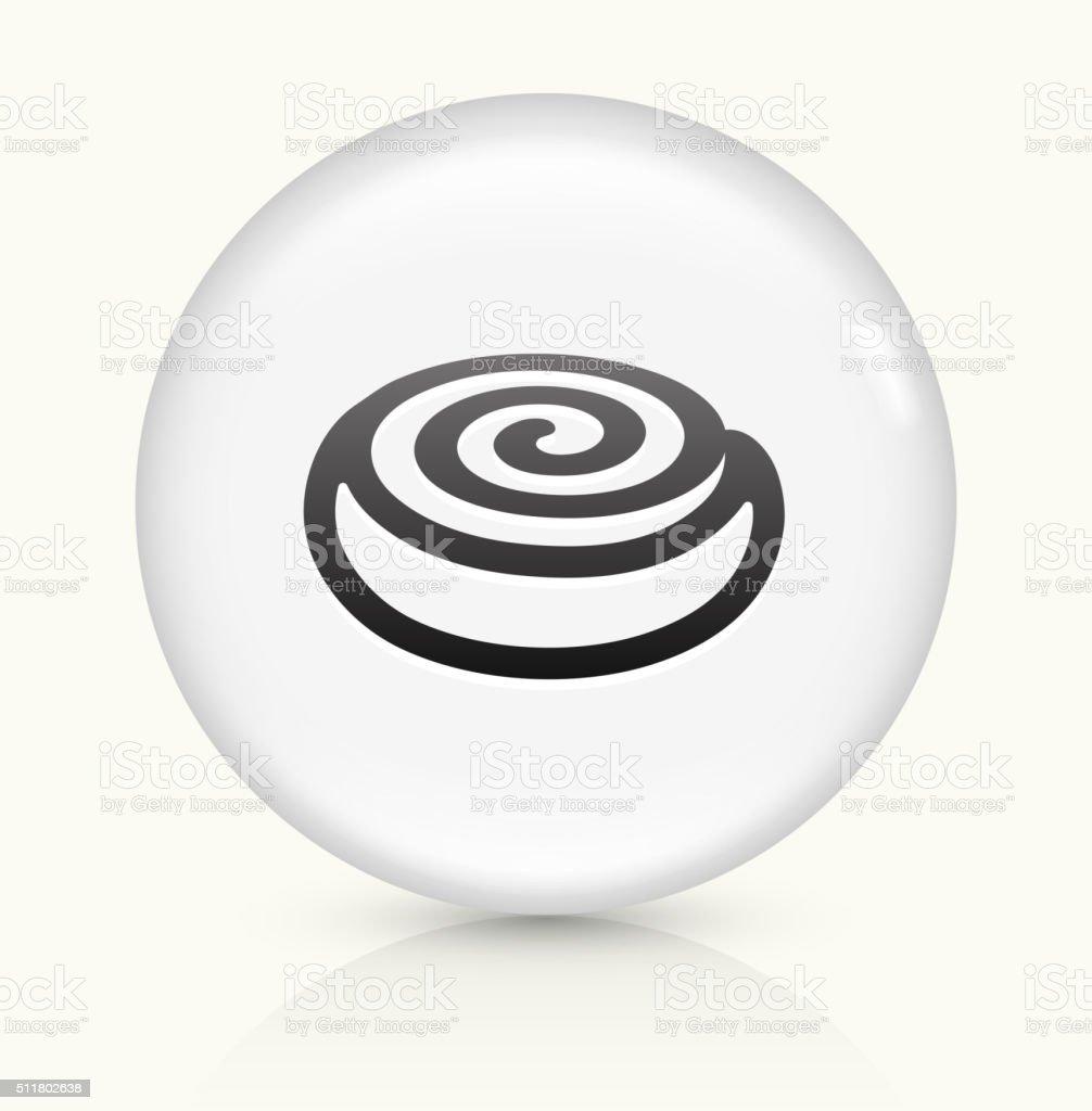 Cinnamon Bun icon on white round vector button vector art illustration