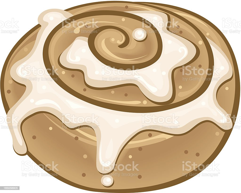Cinnamon Roll vector art illustration