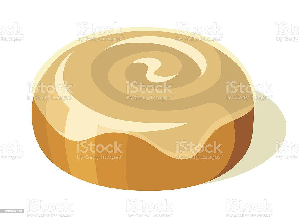 Cinnamon Roll vector art illustration