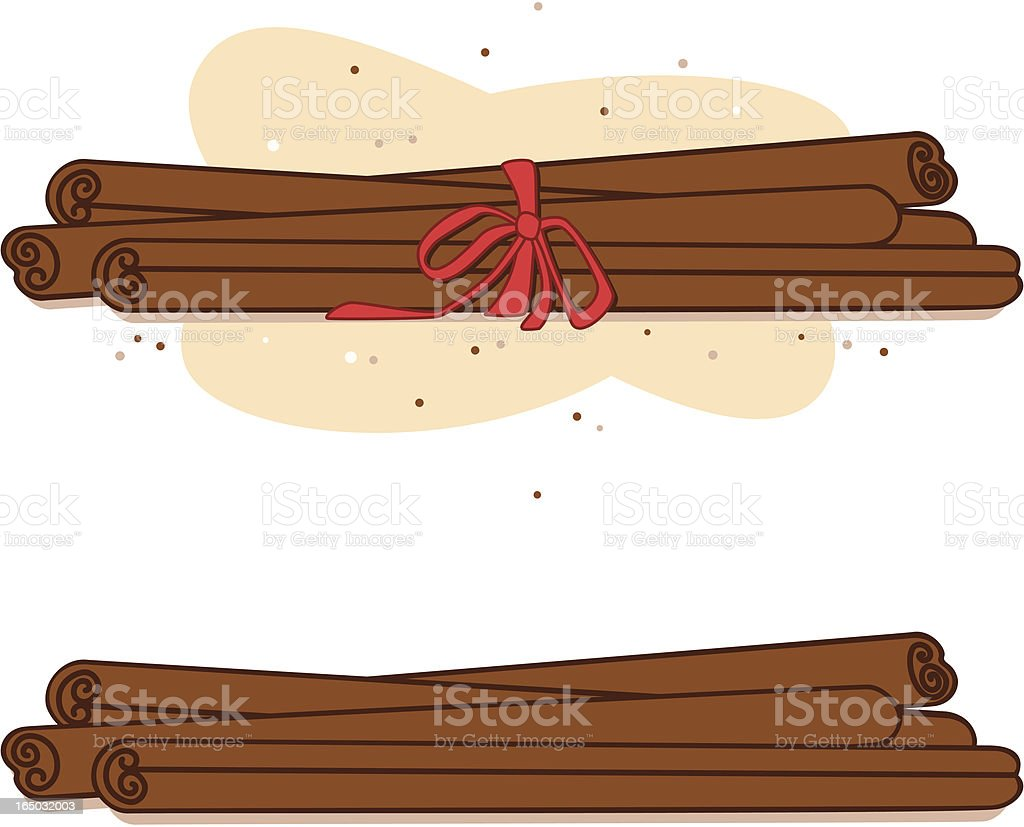 Cinnamon Sticks (vector) royalty-free stock vector art