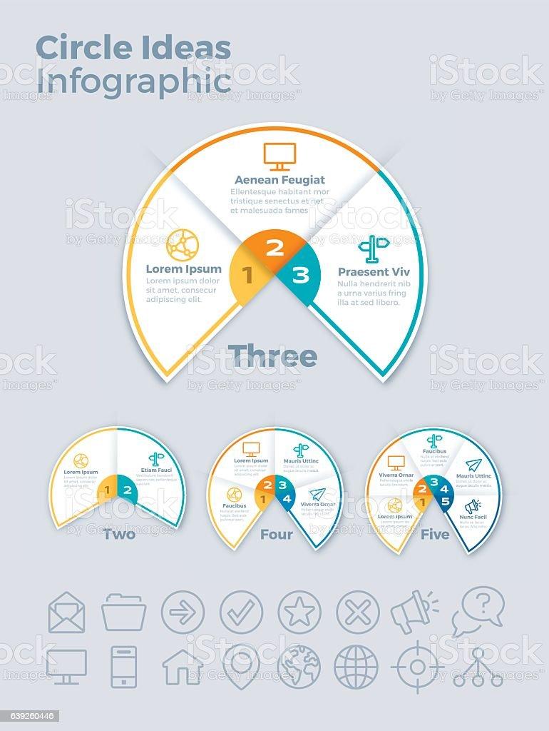 Circe Ideas Infographic vector art illustration