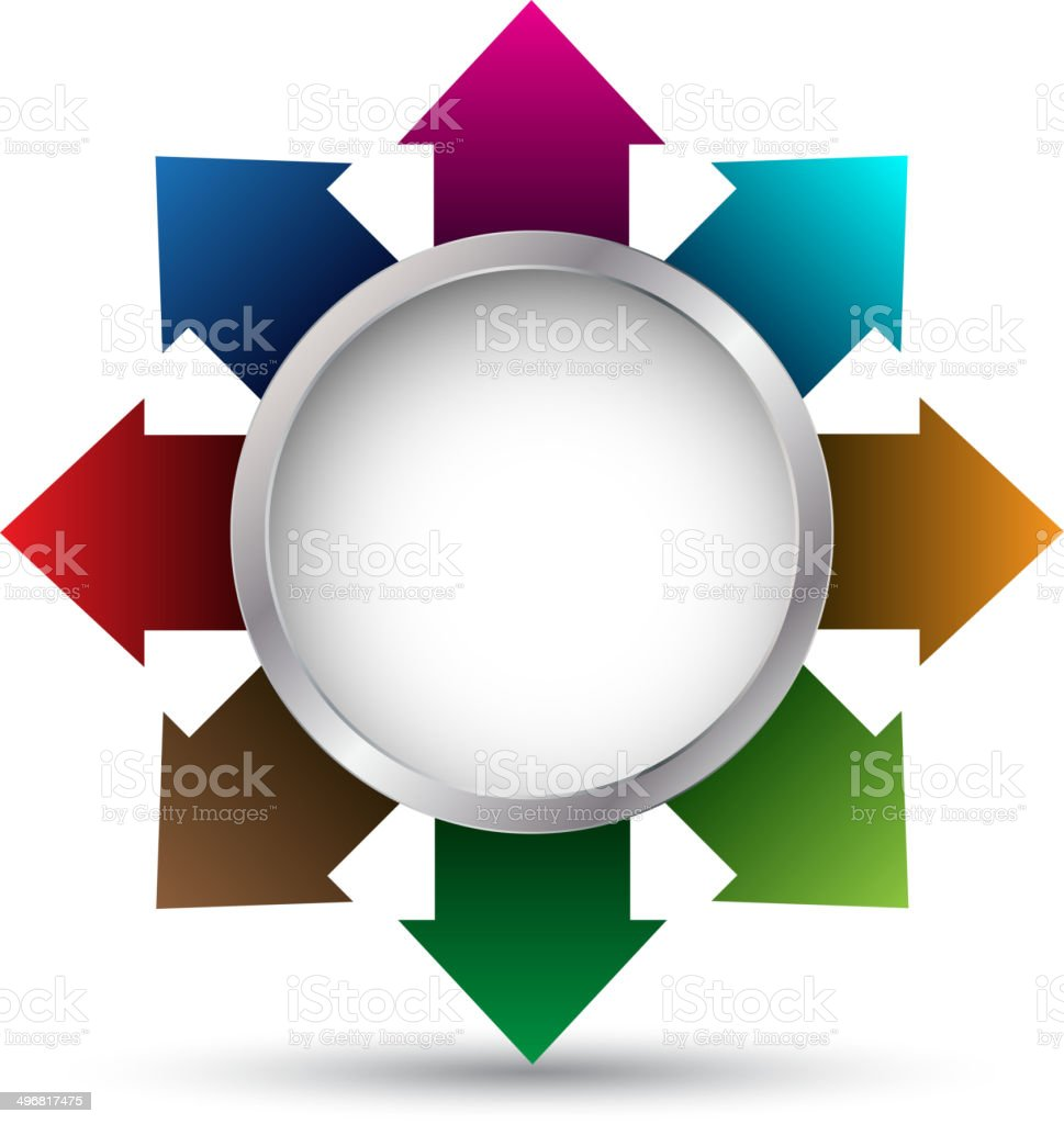 circle arrow vector for business concepts royalty-free stock vector art