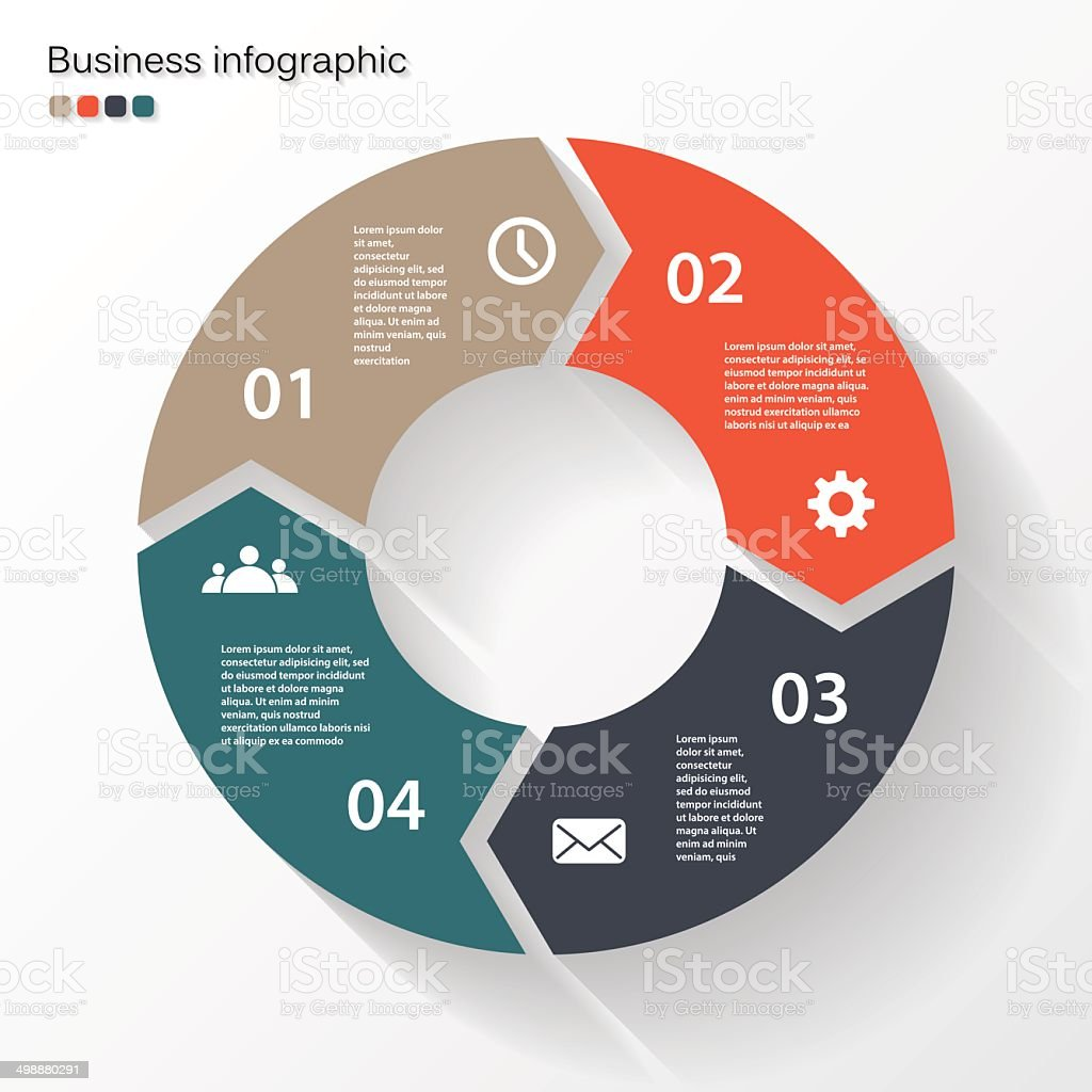 Circle arrows for your info graphic vector art illustration