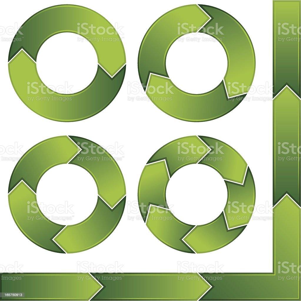 Circle arrows royalty-free stock vector art