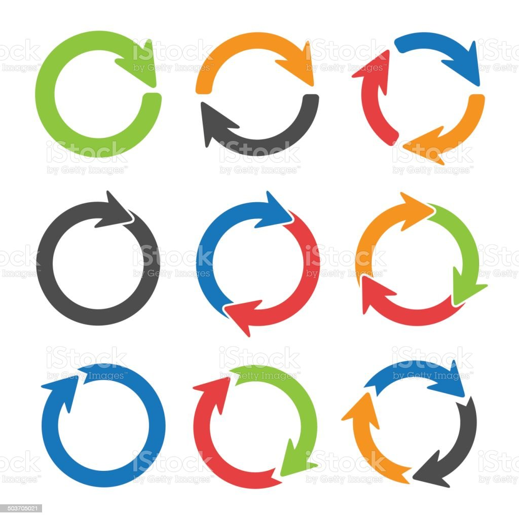 Circle arrows vector art illustration