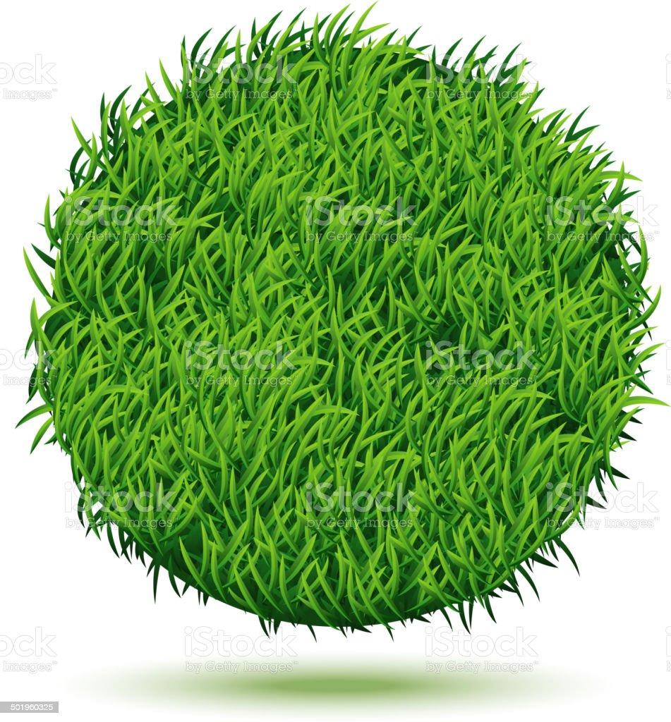 Circle Background Of Green Grass vector art illustration