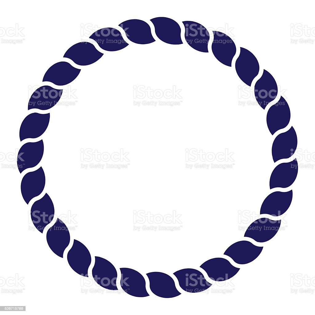 Circle blue navy rope vector line art isolated vector art illustration