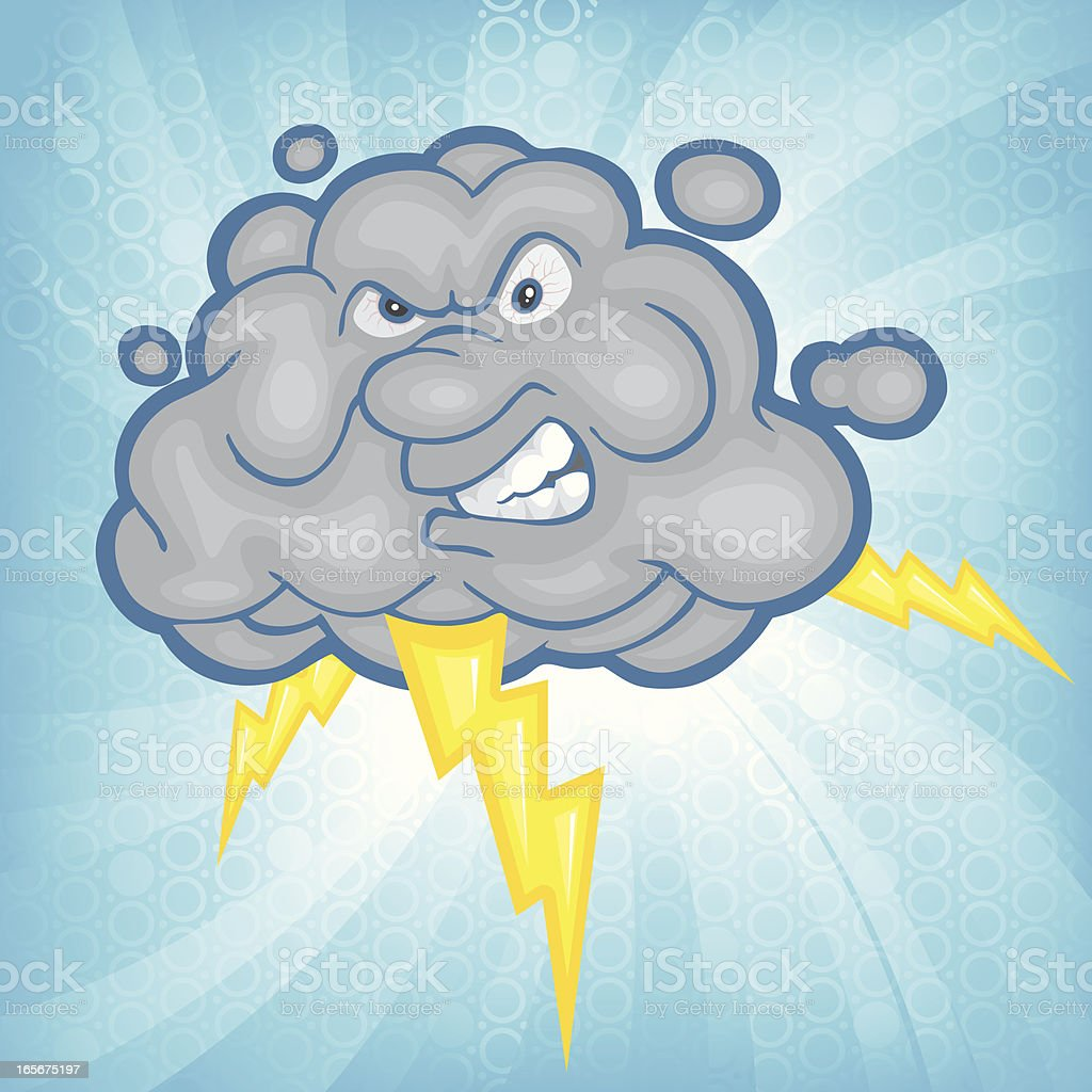 Circle Burst Thunder  Cloud royalty-free stock vector art