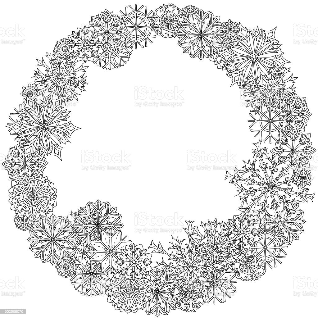 Circle Christmas balls ornament vector art illustration