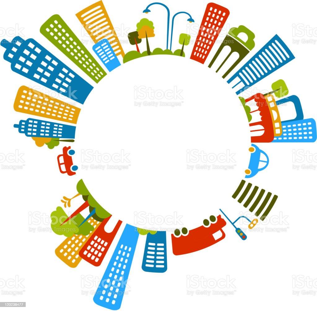 circle city vector art illustration